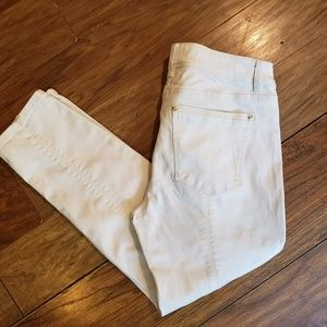 White House Black Market size 8 skinny crop jeans
